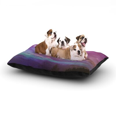 Monika Strigel Everything at Once Dog Pillow with Fleece Cozy Top Size: Large (50 W x 40 D x 8 H)
