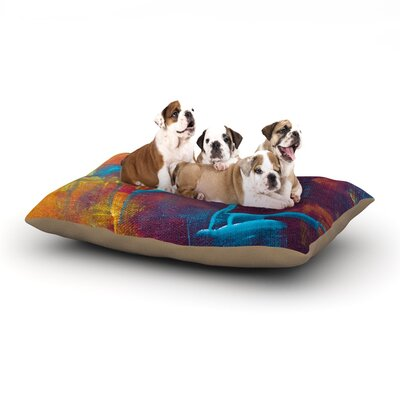 Malia Shields Cityscape Abstracts II Painting Dog Pillow with Fleece Cozy Top Size: Small (40 W x 30 D x 8 H)