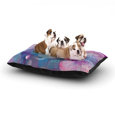 Marianna Tankelevich Dream Houses Dog Pillow with Fleece Cozy Top Size: Large (50 W x 40 D x 8 H)