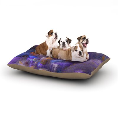Michael Sussna Purple Mountain Majesty Dog Pillow with Fleece Cozy Top Size: Large (50 W x 40 D x 8 H)