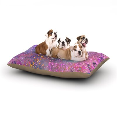 Marianna Tankelevich Pink Universe Dog Pillow with Fleece Cozy Top Size: Small (40 W x 30 D x 8 H)
