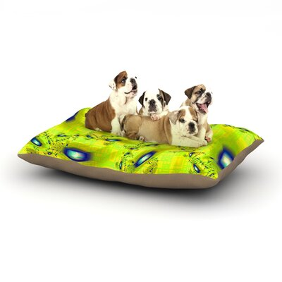Michael Sussna Synchronized Swimming Dog Pillow with Fleece Cozy Top Size: Small (40 W x 30 D x 8 H)