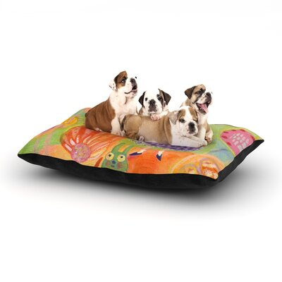 Marianna Tankelevich Flowerland Dog Pillow with Fleece Cozy Top Size: Small (40 W x 30 D x 8 H)
