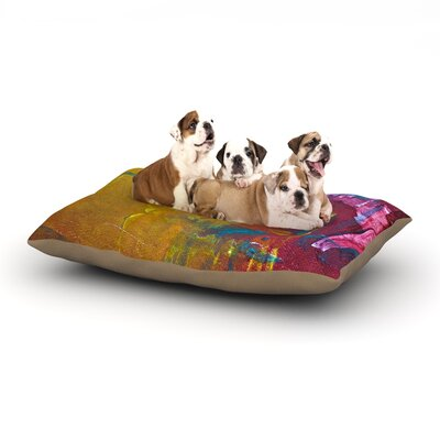 Malia Shields Cityscape Abstracts III Dog Pillow with Fleece Cozy Top Size: Small (40 W x 30 D x 8 H)