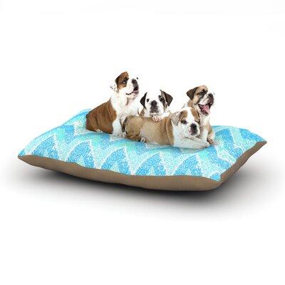 Marianna Tankelevich Mint Snow Chevron Chevron Dog Pillow with Fleece Cozy Top Size: Large (50 W x 40 D x 8 H)
