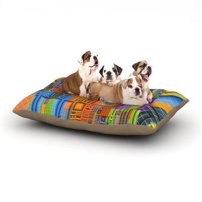 Michael Sussna Tile Rep Abstract Dog Pillow with Fleece Cozy Top Size: Small (40 W x 30 D x 8 H)