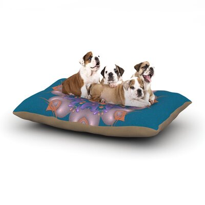 Michael Sussna Whisker Lily Dog Pillow with Fleece Cozy Top Size: Large (50 W x 40 D x 8 H)