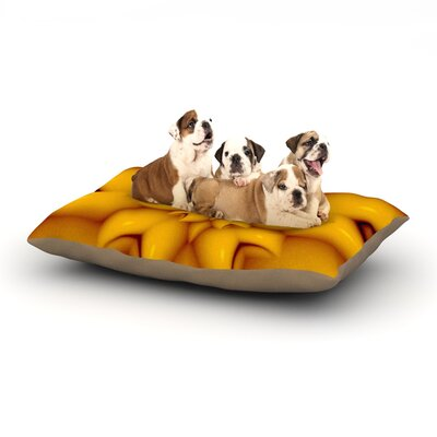 Michael Sussna Citrus Star Dog Pillow with Fleece Cozy Top Size: Large (50 W x 40 D x 8 H)