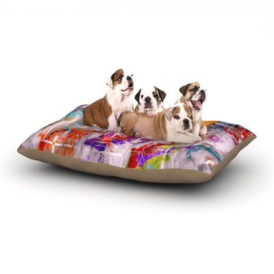 Michael Sussna Quantum Foam Geometric Dog Pillow with Fleece Cozy Top Size: Small (40 W x 30 D x 8 H)