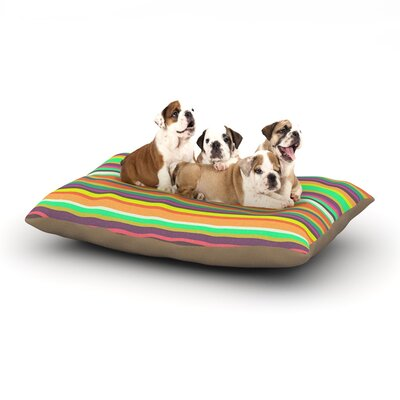 Nandita Singh Play Stripes Dog Pillow with Fleece Cozy Top Size: Large (50 W x 40 D x 8 H)