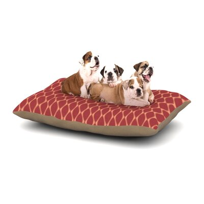 Nandita Singh Marsala Dog Pillow with Fleece Cozy Top Color: Peach/Red, Size: Large (50 W x 40 D x 8 H)