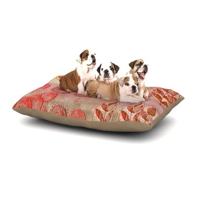 Marianna Tankelevich Summer Music Dog Pillow with Fleece Cozy Top Size: Large (50 W x 40 D x 8 H)