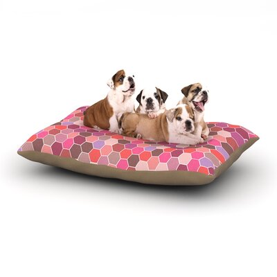Nandita Singh Blush Tiled Dog Pillow with Fleece Cozy Top Size: Large (50 W x 40 D x 8 H)