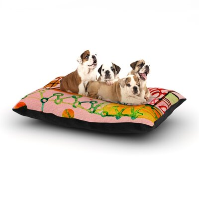 Marianna Tankelevich Happy Town Dog Pillow with Fleece Cozy Top Size: Large (50 W x 40 D x 8 H)