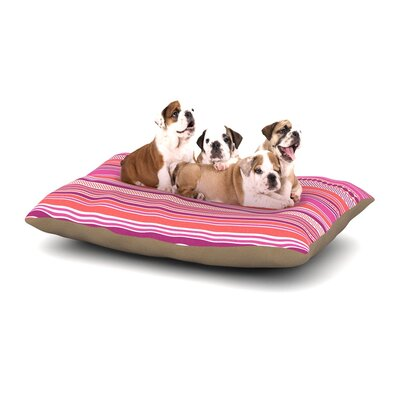 Nandita Singh Pink Ribbons Dog Pillow with Fleece Cozy Top Size: Large (50 W x 40 D x 8 H)