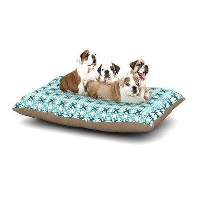 Nandita Singh Blue Motifs Geometric Dog Pillow with Fleece Cozy Top Size: Small (40 W x 30 D x 8 H)