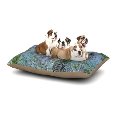 Marianna Tankelevich Wild Forest Trees Dog Pillow with Fleece Cozy Top Size: Large (50 W x 40 D x 8 H)
