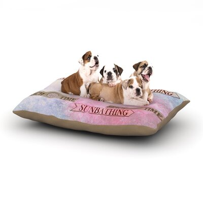 Marianna Tankelevich Beach Time Dog Pillow with Fleece Cozy Top Size: Small (40 W x 30 D x 8 H)