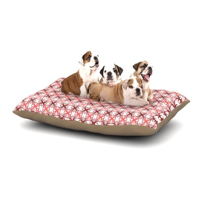 Nandita Singh Pink Motifs Dog Pillow with Fleece Cozy Top Size: Small (40 W x 30 D x 8 H)