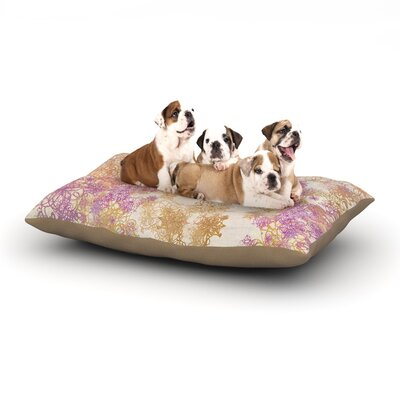 Marianna Tankelevich Retro Summer Dog Pillow with Fleece Cozy Top Size: Large (50 W x 40 D x 8 H)