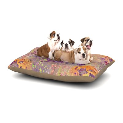 Marianna Tankelevich Levitating Monsters Dog Pillow with Fleece Cozy Top Size: Large (50 W x 40 D x 8 H)