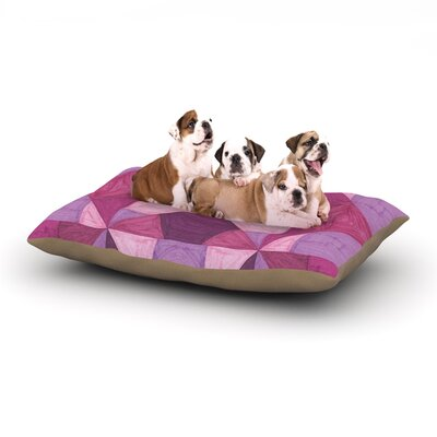 Empire Ruhl Purple Angles Geometric Dog Pillow with Fleece Cozy Top Size: Large (50 W x 40 D x 8 H)