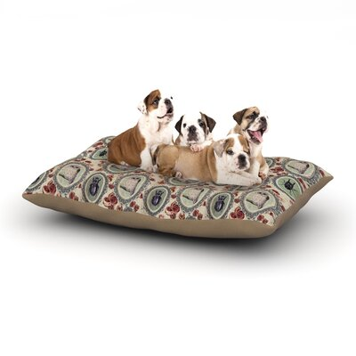 DLKG Design Camafeu Beetles Dog Pillow with Fleece Cozy Top Size: Small (40 W x 30 D x 8 H)