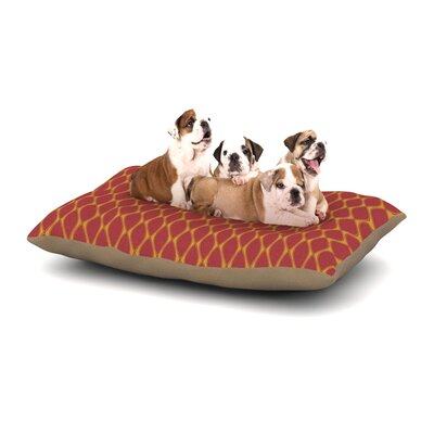 Nandita Singh Marsala Dog Pillow with Fleece Cozy Top Size: Large (50 W x 40 D x 8 H), Color: Mustard/Red