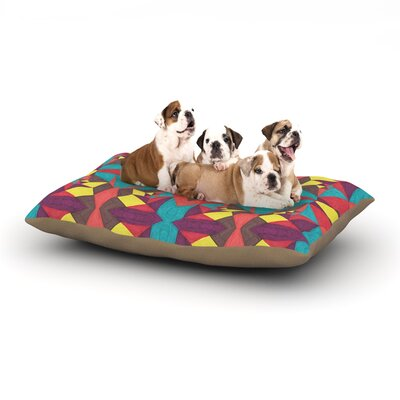 Empire Ruhl Abstract Insects Dog Pillow with Fleece Cozy Top Size: Small (40 W x 30 D x 8 H)