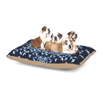 Marianna Tankelevich Night Birds Abstract Dog Pillow with Fleece Cozy Top