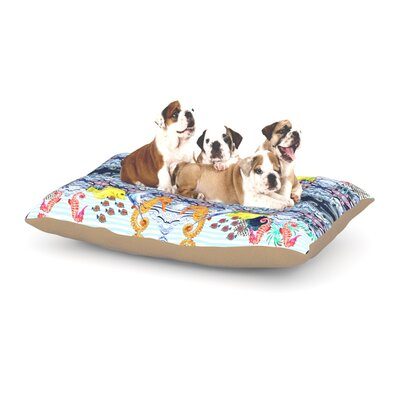 DLKG Design Marine Life Dog Pillow with Fleece Cozy Top Size: Small (40 W x 30 D x 8 H)