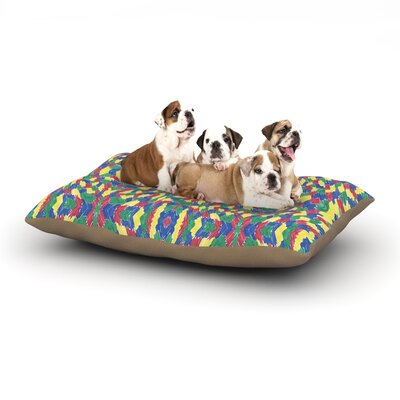Empire Ruhl Energy Abstract Dog Pillow with Fleece Cozy Top Size: Small (40 W x 30 D x 8 H)