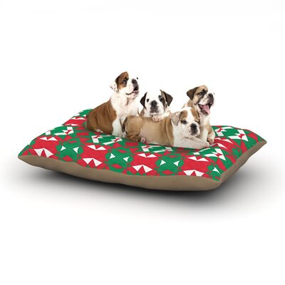 Empire Ruhl Christmas Geo Dog Pillow with Fleece Cozy Top Size: Large (50 W x 40 D x 8 H)