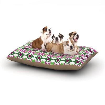 Empire Ruhl Island Dreaming Abstract Dog Pillow with Fleece Cozy Top Size: Large (50 W x 40 D x 8 H)