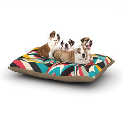 Danny Ivan Dont Come Close Abstract Dog Pillow with Fleece Cozy Top Size: Small (40 W x 30 D x 8 H)