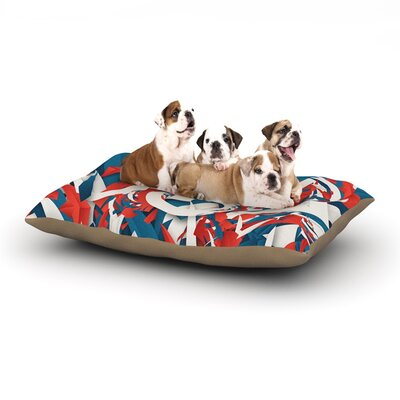 Danny Ivan USA World Cup Dog Pillow with Fleece Cozy Top Size: Small (40 W x 30 D x 8 H)