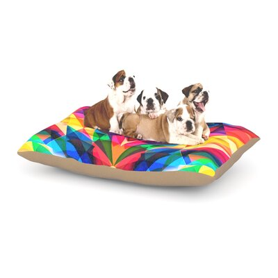 Danny Ivan Day We Met Geometric Dog Pillow with Fleece Cozy Top Size: Large (50 W x 40 D x 8 H)