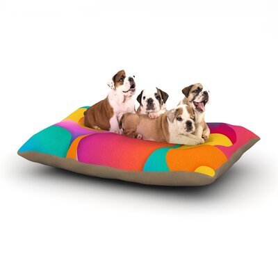 Danny Ivan Still Life Warm Abstract Dog Pillow with Fleece Cozy Top Size: Small (40 W x 30 D x 8 H)