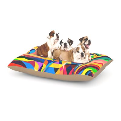 Danny Ivan The Optimist Geometric Dog Pillow with Fleece Cozy Top Size: Small (40 W x 30 D x 8 H)
