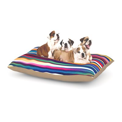 Danny Ivan Blurry Lines Dog Pillow with Fleece Cozy Top Size: Small (40 W x 30 D x 8 H)