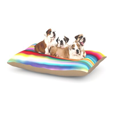 Danny Ivan Blurry Cool Blur Dog Pillow with Fleece Cozy Top Size: Large (50 W x 40 D x 8 H)