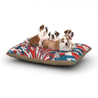 Danny Ivan Feel Again Dog Pillow with Fleece Cozy Top Size: Large (50 W x 40 D x 8 H)