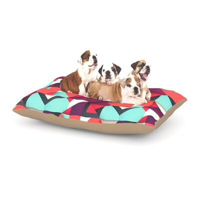 Danny Ivan Shapes Dog Pillow with Fleece Cozy Top Size: Small (40 W x 30 D x 8 H)