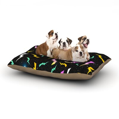 Danny Ivan Bolt Lightning Dog Pillow with Fleece Cozy Top Size: Large (50 W x 40 D x 8 H)