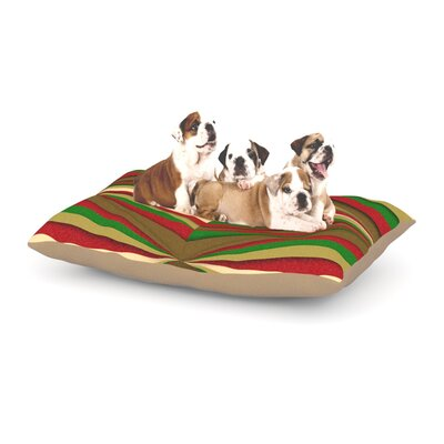 Danny Ivan Christmas Dog Pillow with Fleece Cozy Top Size: Large (50 W x 40 D x 8 H)