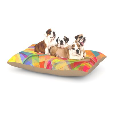 Danny Ivan Star Geometric Dog Pillow with Fleece Cozy Top Size: Large (50 W x 40 D x 8 H)