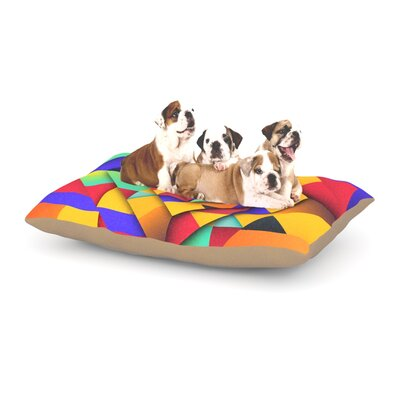 Danny Ivan Shapes II Geometric Dog Pillow with Fleece Cozy Top Size: Large (50 W x 40 D x 8 H)
