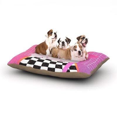 Danny Ivan K7 Casette Dog Pillow with Fleece Cozy Top Size: Large (50 W x 40 D x 8 H)