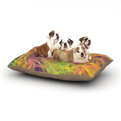 Danny Ivan Blend Everywhere Abstract Dog Pillow with Fleece Cozy Top Size: Small (40 W x 30 D x 8 H)
