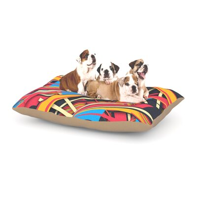 Danny Ivan Slippery Slope Dog Pillow with Fleece Cozy Top Size: Small (40 W x 30 D x 8 H)